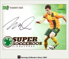 2013-14 A League Trading Cards Super Socceroos Signature SS4 Tommy Oar