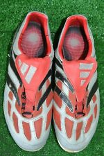 RARE GREY PREDATOR PRECISION VINTAGE ADIDAS FOOTBALL BOOTS size 8.5 UK -42.2/3EU