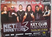 Metal Masters 3 Poster Slayer/Anthrax/Dream Theatre @ Key Club Hollywood 4/12/12