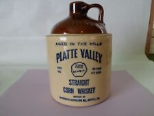 Old McCormick Platte Valley Empty Corn Whiskey Jug 4/5 Qt