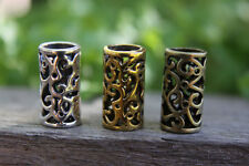 6 Tibetan Antique Bronze /Golden/ Silver Dreadlock Beads Viking 8mm Hole (5/16')