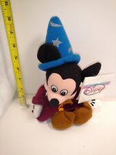 """Disney Store Sorcerer Mickey Mouse Plush Beanie Doll 9"""""""