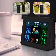 LCD Digital Thermometer Hygrometer Humidity Clock Weather Meter Indoor/Outdoor