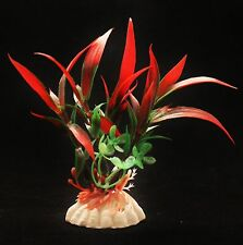 Aquarium Fish Tank Decoration Fake False Plastic Plant Red Bamboo Aquatic Grass