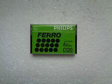Cassette Audio Vierge Collector Longue Durée PHILIPS C120 - Neuf