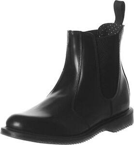 Dr. Martens Women's Flora Chelsea Boot, Black Polished Smooth, 10