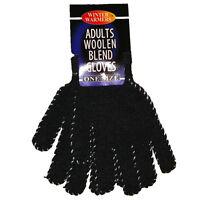 Woolen Blend Gloves One Size Magic Winter Warm Knit Men Ladies Unisex New #7586