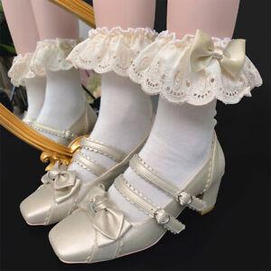 Lolita Girls Cotton Sweet Socks Cosplay Hosiery Japanese Kawaii Princess Socks