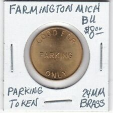 Token - Farmington, MI - Automatic Parking Devices - Parking Token - 24 MM Brass