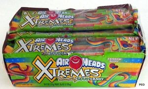Airheads Xtremes Rainbow Berry Belts 18 Ct Airhead Extreme Air Head Bulk Candy