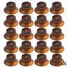 20 Pcs Amber Bell Control Knobs Guitar Top Hat Knobs for SG Parts