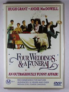 Four Weddings And A Funeral DVD FREE POST