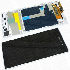 Sony Xperia Z1 Display With Touch Screen Digitizer Assembly With Frame - White