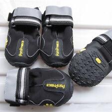 KE_ 4Pcs Waterproof Pet Dog Shoes Anti-Slip Comfortable Reflective Boots Relia