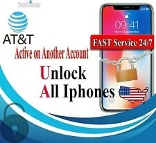 AT&T USA iPhone UNLOCK Service for Active On Another Account (All Models) Fast