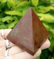 "1.9"" RED JASPER Pyramid Root Chakra Crystal Stone Reiki Charged T2 4.6oz!"
