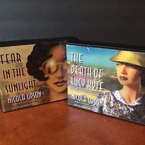 Lot: 2 Nicola Upson Audio Book 4 + 5 CD Set Josephine Tey Mystery Series Kyte