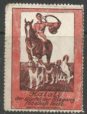 HALALI poster/advertising stamp/label (Hunting/Horse & Hounds/Huntmaster)
