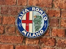 Cast Iron Alfa-Romeo Plaque