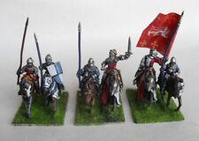 Seis 28mm Pintado Caballeros Medievales caballería. Perry Miniatures y otros?
