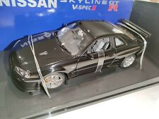 NEW AutoArt 1/18 Nissan Skyline R34 GT-R GTR V-Spec II Black Pearl Noire 77334