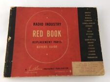 RARE 1948 First Edition Radio Industry Red Book Photofact Publication