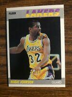 1987-88 Fleer  #56 Magic Johnson Los Angeles Lakers  NrMt