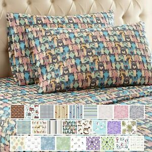Thermee Micro Flannel Sheet Set, Full, Cat Party