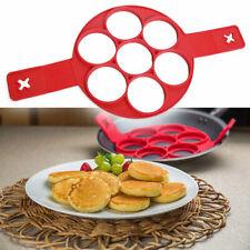 Silikon-Antihaft Flipper Pfannkuchenform Hersteller Ei  Omelett-Werkzeug U1I6