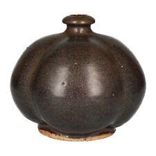 A Gunnar Larsson gourd shaped studio pottery vase Scandinavian stoneware