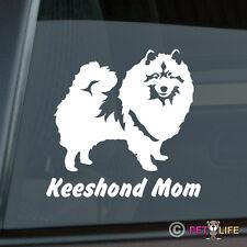 Keeshond Mom Sticker Die Cut Vinyl - kees