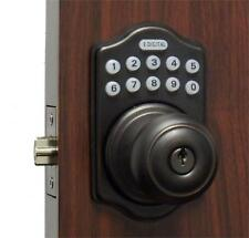 Digital Keyless Electronic Door Lock Knob OB Touchpad Code Remote CAPABLE
