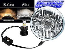 5-3/4 Motorcycle Crystal Projector Headlight CREE 4000Lm LED Light Bulb Headlamp