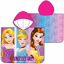 Disney Princesa Niñas Capucha Toalla Poncho Rapunzel Cenicienta Belle Beauty
