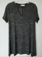 Bobbie Brooks Women's Size Small Black Solid Short Sleeve Blouse Shirt Top