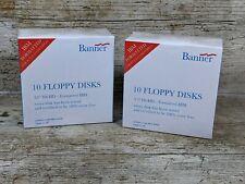 More details for ibm formatted floppy disks 3.5 inch hd 2mb / 1.44mb floppy discs sealed x20