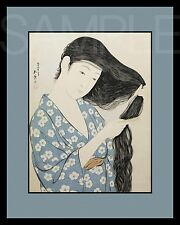 Japanese Women Picture 8X10 New Color Print Art Vintage Old Photo Woodblock Lady