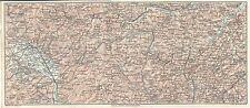 Carta geografica antica APPENNINO VAL TIBERINA Metauro Misa TCI 1924 Antique map