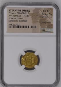 Phocas, AD 602-610 BYZANTINE EMPIRE AV Tremissis 5780232/7