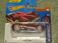 Hot Wheels 2017 #347/365 Power Surge Rouge Hw Blanc Brillance Roues