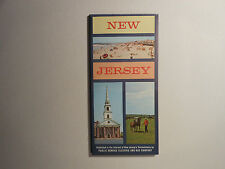 """VINTAGE 1963 ROAD MAP   """"NEW JERSEY""""     PUBLIC SERVICE ELECTRIC & GAS COMPANY"""