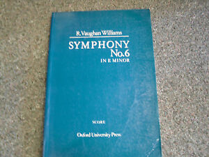 R.Vaughan Williams Symphony No6 in e minor   paperback