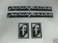 Emblem Set for Pininfarina Fiat Set of 4 Emblems -NEW- #92