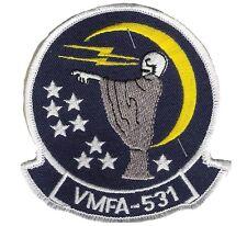 USMC Fighter Attack Squadron Insignia: VMFA-531 Grey Ghosts decommissioned 1992