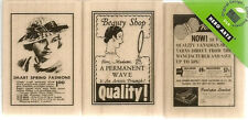 Hero Arts 3pc Smart Style 2x1.5 Each Rubber Wood LP178 Stamp 1930's Advertising