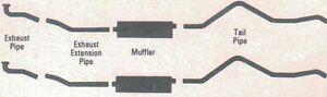 1962 CHRYSLER 300 HARDTOP DUAL EXHAUST SYSTEM,  ALUMINIZED