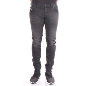 Diesel Industry Mens Troxer Faded Black Faded Wash RA468 Slim Skinny Jeans 31x32
