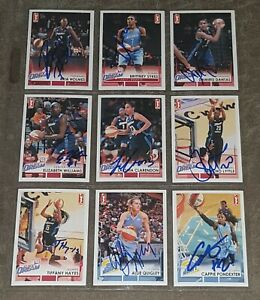 2017 RITTENHOUSE WNBA 87/110 SIGNED CARD BASKETBALL SET NEARLY COMPLETE!