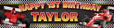 Formula One Personalised Birthday Banner Kids Party Idea Hanging Decoration