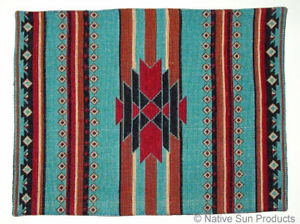 """Socorro Southwestern design  Placemats Table Mats Woven 13x19""""   #11070"""